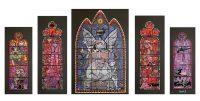 Jamie Hewlett – Gorillaz Stained Glass Windows – 5 Print Set (2005)